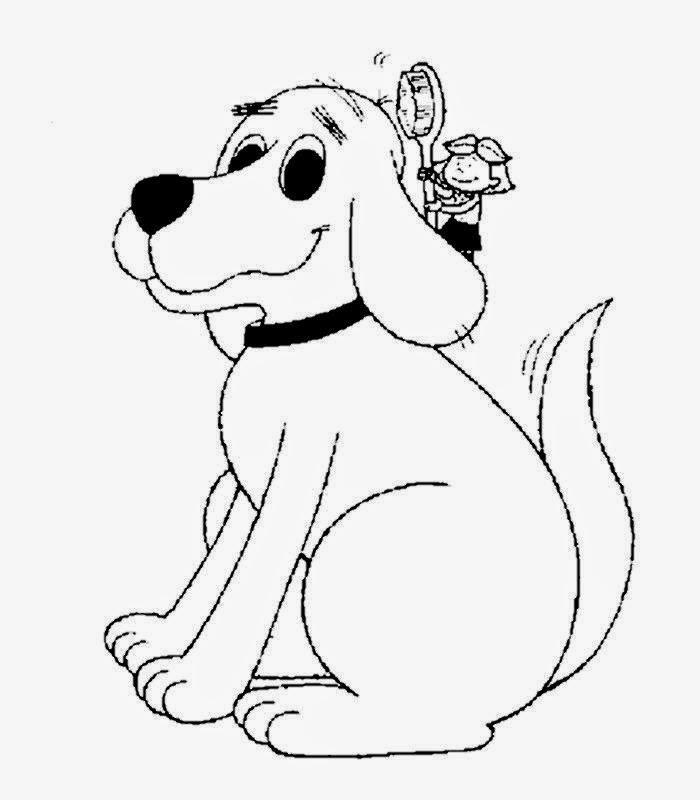 desenho de cachorro gigante  para pintar