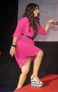 Actress Vidya Balan Pictures in Pink Short Dress at Shaadi Ke Side Movie Trailer Launch 0004.jpg