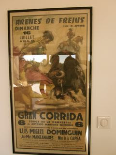 """Affiche """"Le retour de Louis DOMINGUIN à Fréjus"""" 1972"""