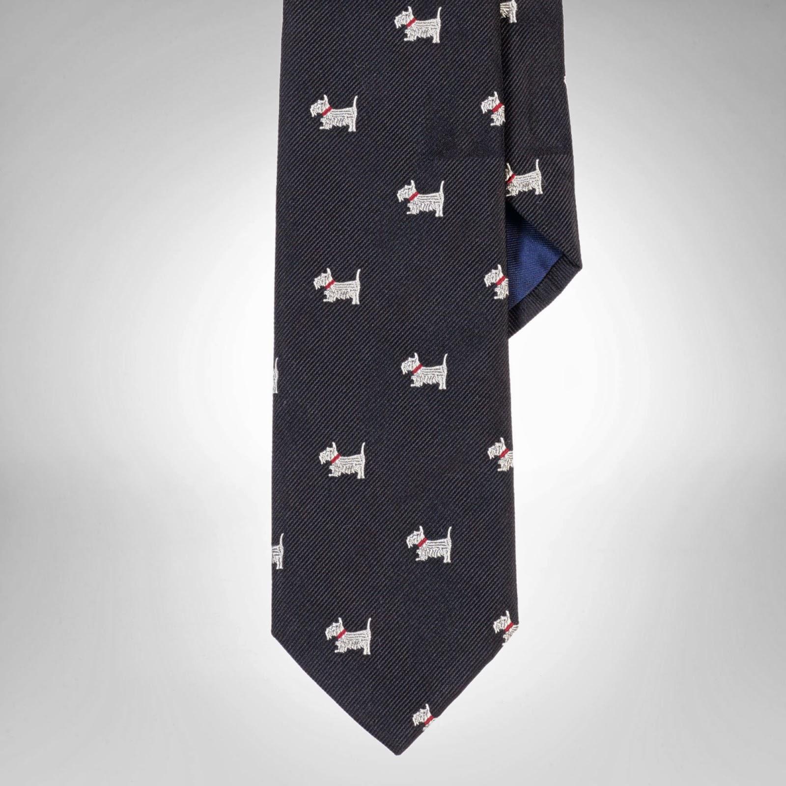 David Beckham's Polo Ralph Lauren Scottie dog necktie - Macau Handprint Ceremony November 2013