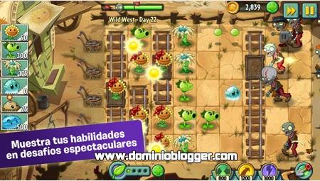 Juega Plants vs Zombies 2 gratis en tu telefono movil