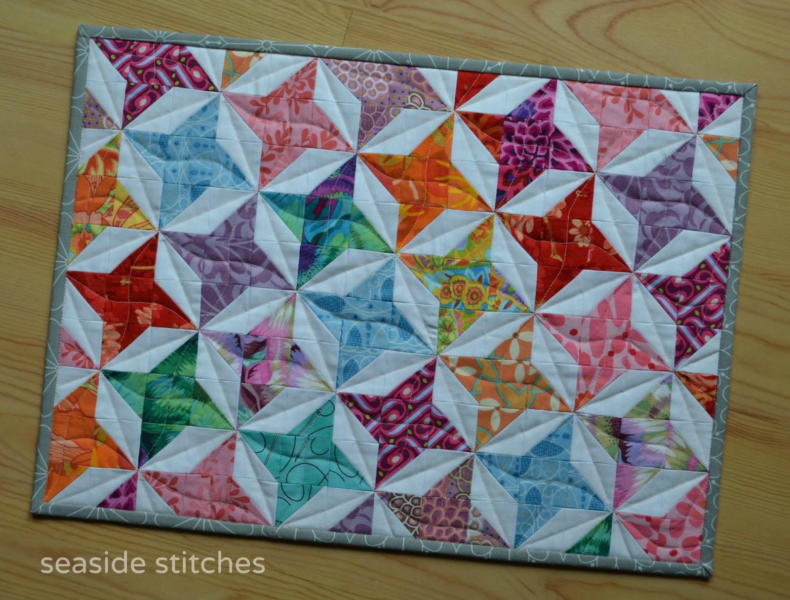Seaside Stitches: Friday Finish- Mini for Ninnie : friendship star quilt block - Adamdwight.com