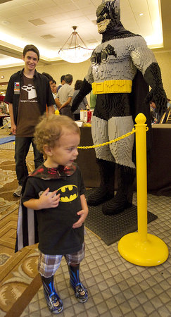 A Life-Size Batman At The Lego Convention