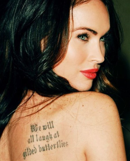 Megan Fox Tattoos 6 Megan Fox Tattoos Megan Fox Tattoos