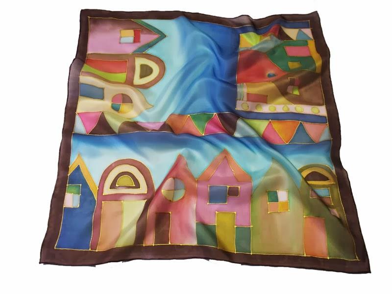 Hundertwasser basic kis női selyemkendő