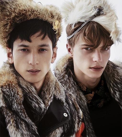 men, winter, bestiary