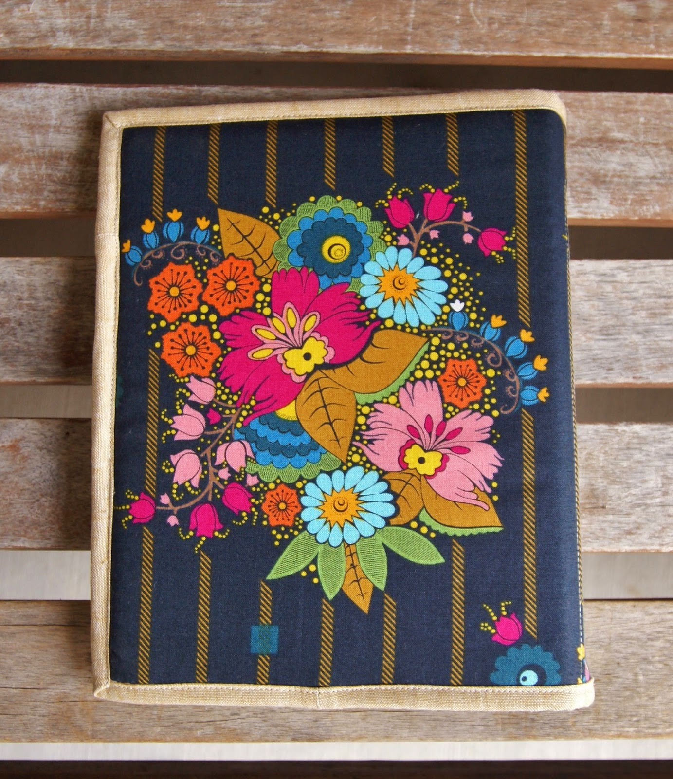Folk Song Notebook Cover by Heidi Staples of Fabric Mutt