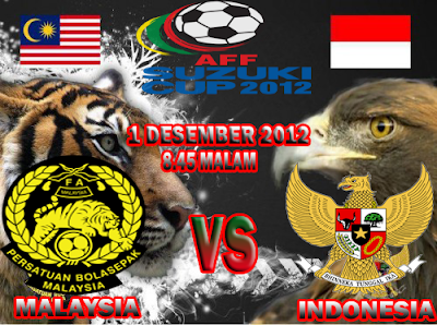 Live Streaming Malaysia vs Indonesia 1 Desember 2012