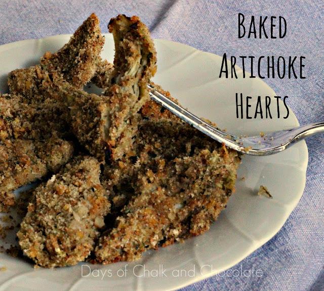 baked artichoke hearts breading appetizer side dish