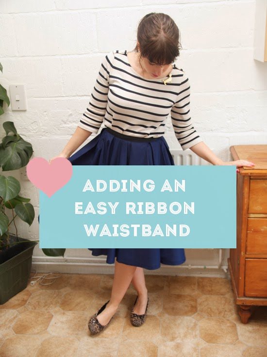 How to sew a simple DIY ribbon waistband