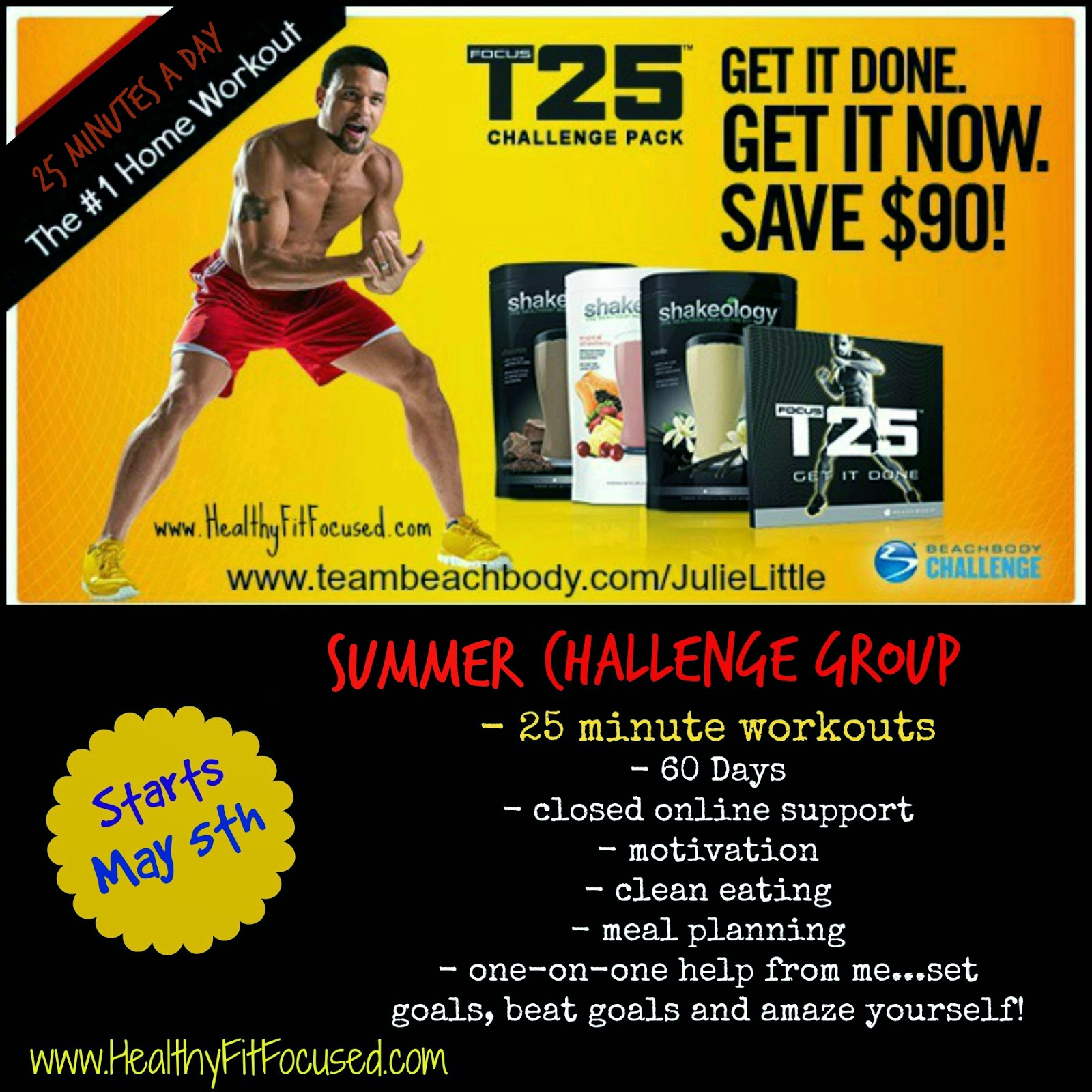 T25 Challenge Pack, summer challenge group, www.HealthyFitFocused.com