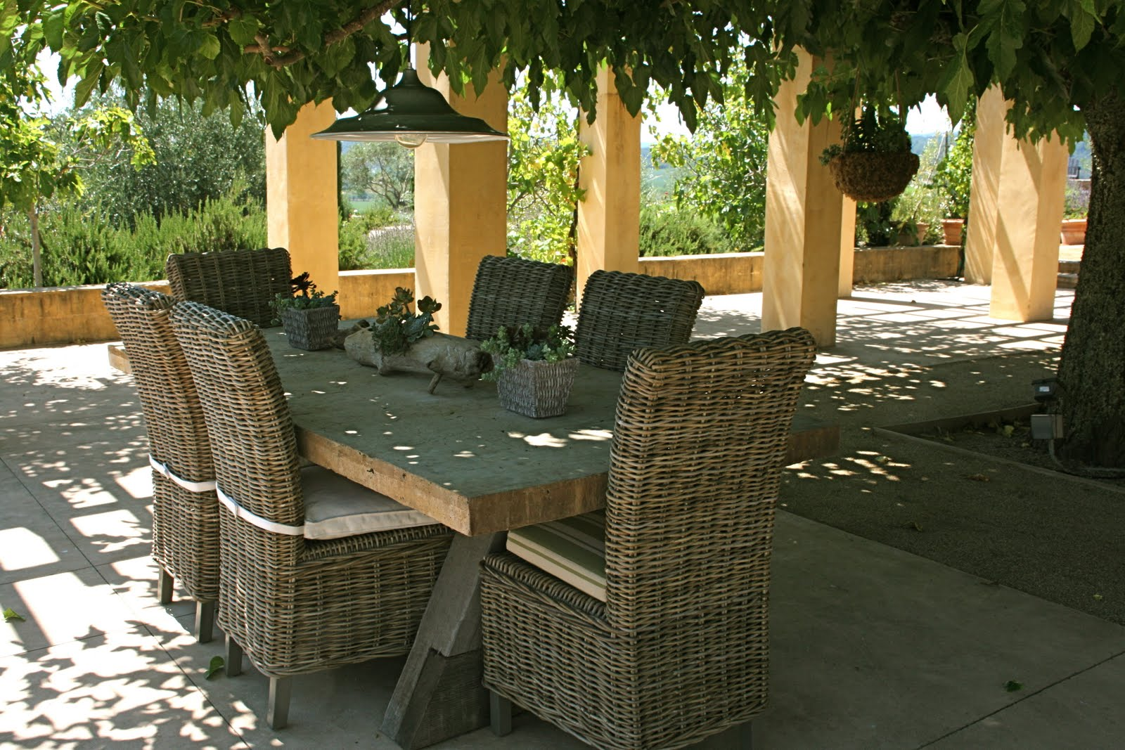 Vignette design more kubu wicker and a winner for Restoration hardware outdoor dining