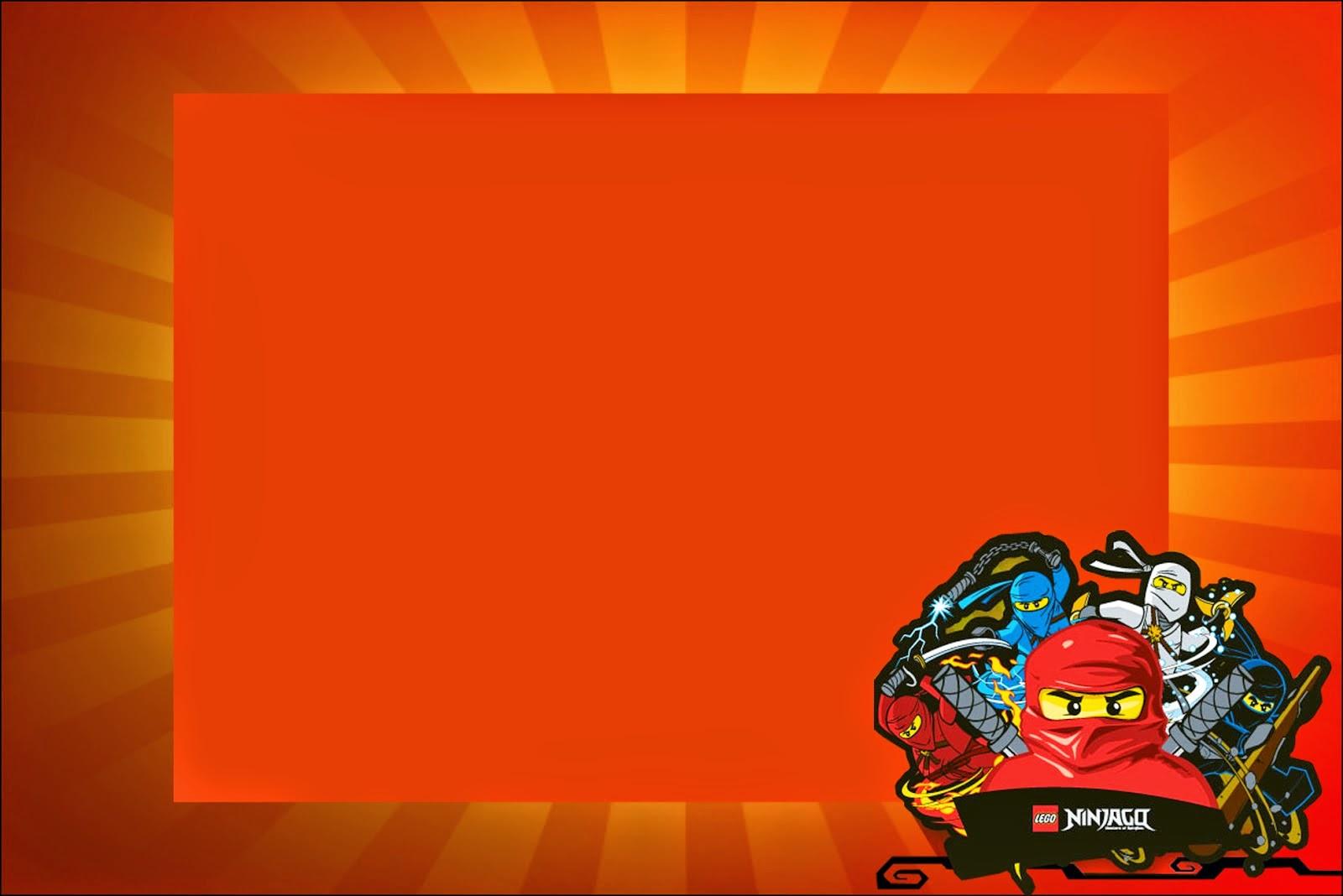Para hacer invitaciones, tarjetas, marcos de fotos o etiquetas, para imprimir gratis de Ninjago.