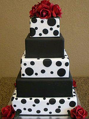 Tortas de boda de color negro y rojo - Decoracion blanco negro rojo ...