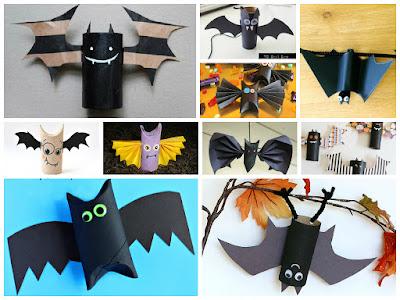 как сделать летучую мышь на хэллоуин своими руками