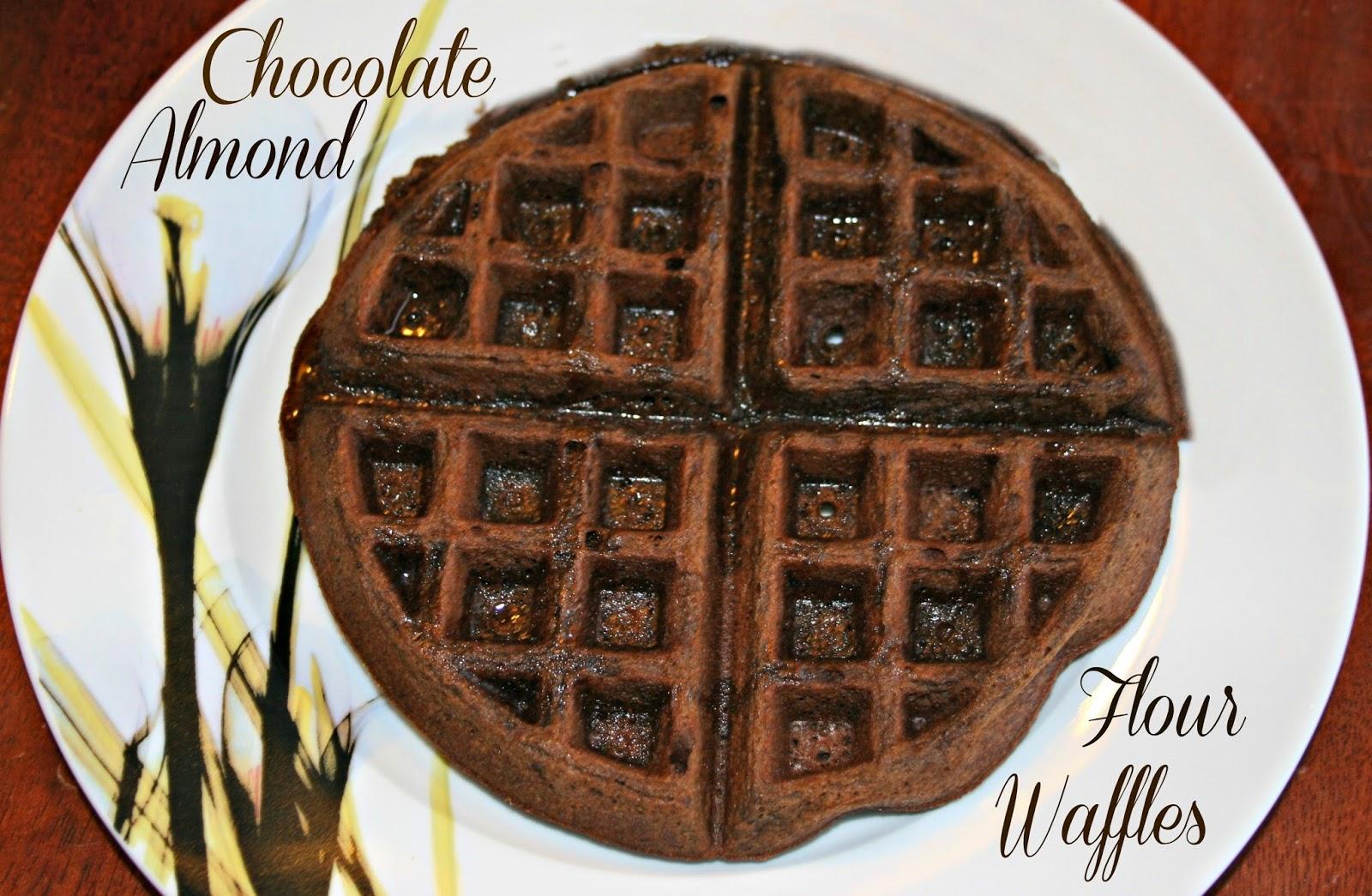 Chocolate Almond Flour Waffles