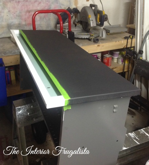 Metal File Cabinet Drawers painted with black chalkboard paint