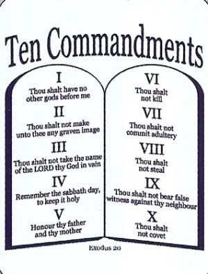 Shocking image for ten commandment printable