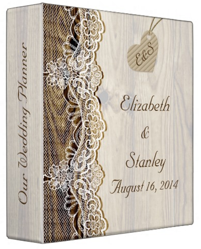 http://www.zazzle.com/white_lace_heart_on_wood_wedding_planner_binders-127616619956697565?rf=238845468403532898