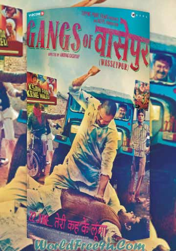 Poster Of Hindi Movie Gangs of Wasseypur (2012) Free Download Full New Hindi Movie Watch Online At worldfree4u.com