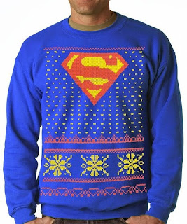 Purchase your Ugly Superman Christmas sweater from Amazon here!