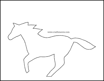 simple horse paper cutting pattern