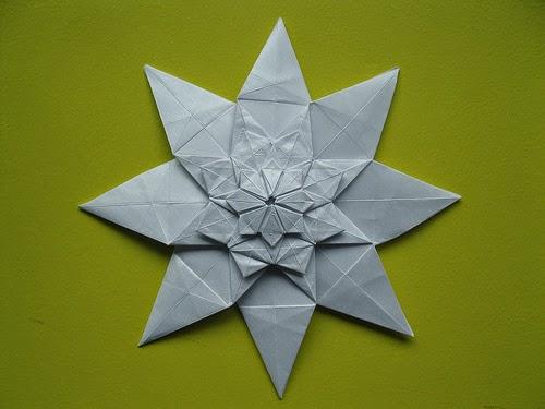 origami shuriken 8 point easy paper craft for kids
