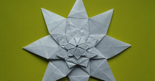 Origami Shuriken 8 Point Simple For Kids