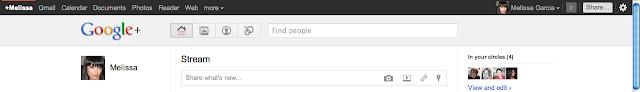 Screenshot: Google+ Navigation Bar