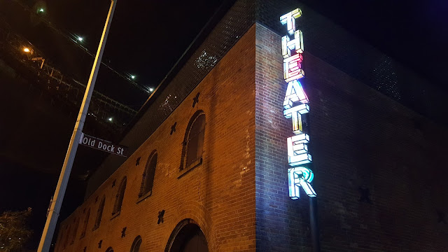 Theatre Sign outside St. Ann's Warehouse Theater