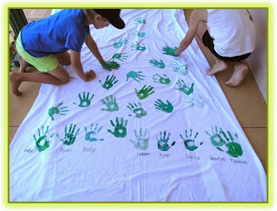 Group Hand Print Christmas Tree Wall Hanging Clever Classroom