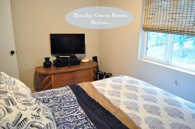 beachy guest bedroom before