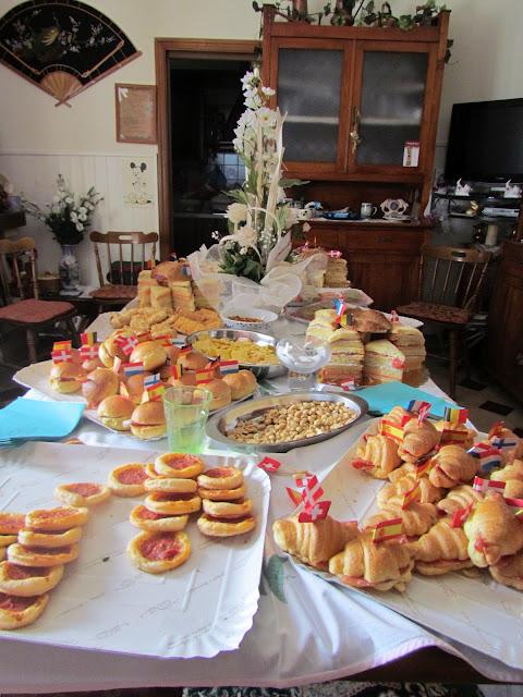 pre-wedding Italian home-made food and snacks