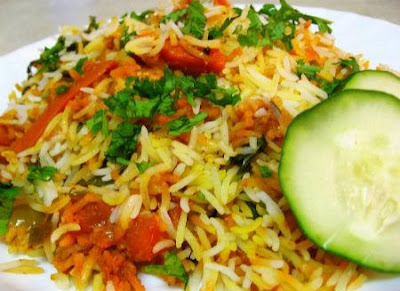 Mixed Vegetables Layered Rice