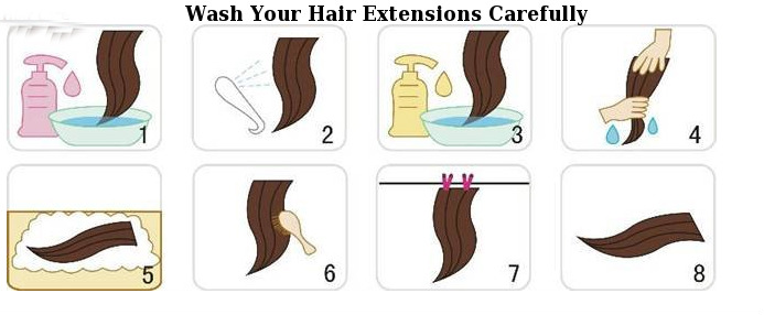 Top tip to take care of your hair extension hair extensions magazine you must wash your hair extensions carefully but it does not mean that you should cleanse it one time in a blue moon in fact it is to be noted that pmusecretfo Choice Image