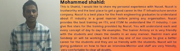 Mohammed Shahid got placed as a Sql Developer
