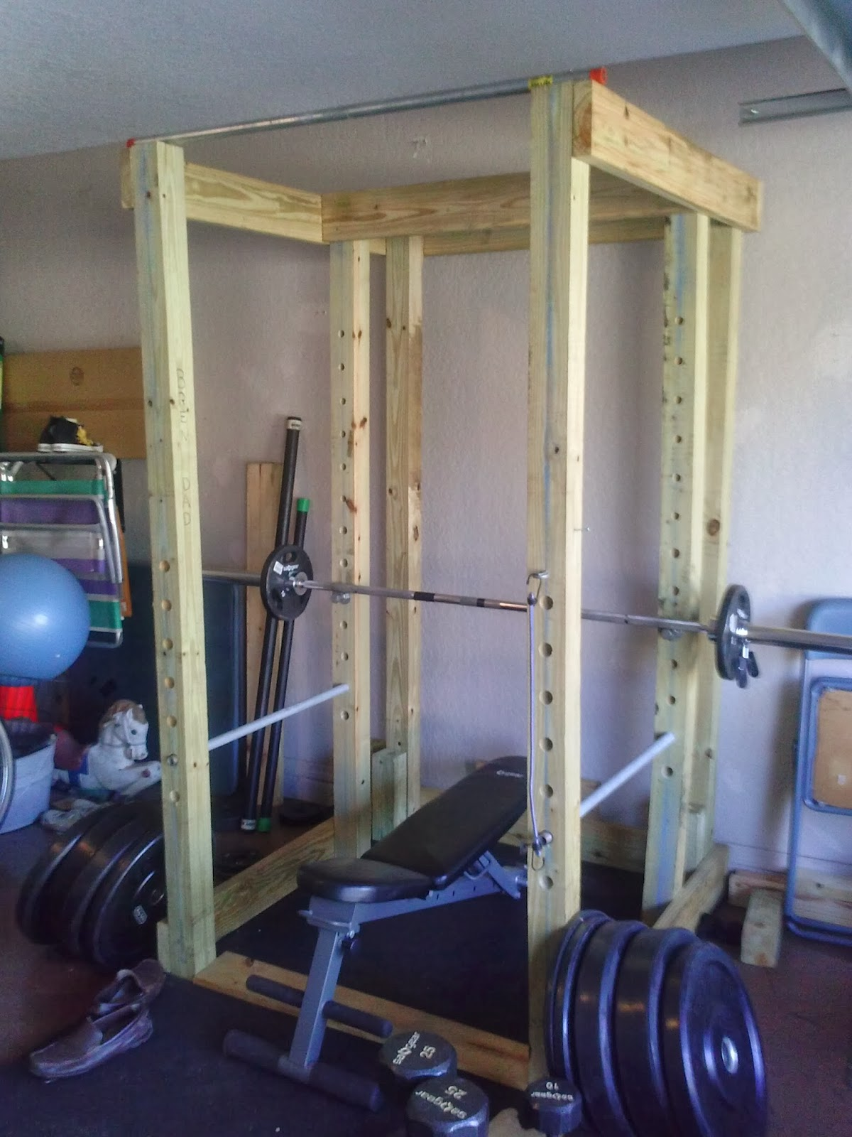 the power rack one year later homemade wooden power