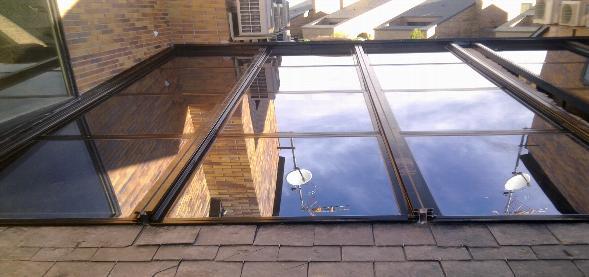 Porche de techo de vidrio madrid cerramientos y - Techos de vidrio para terrazas ...