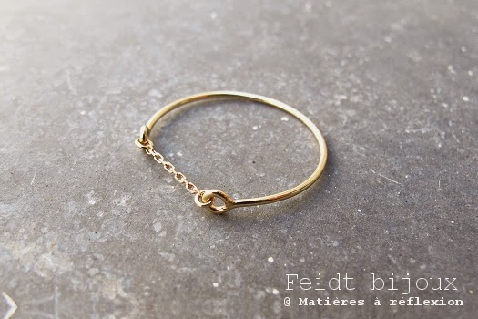 Bague or jaune Feidt Nine