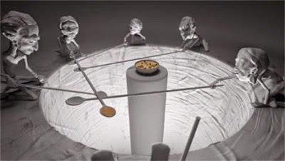 Cena do filme de animação da Caritas