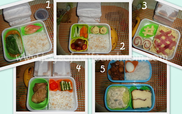 Checked Pasta and Pinwheel Bento