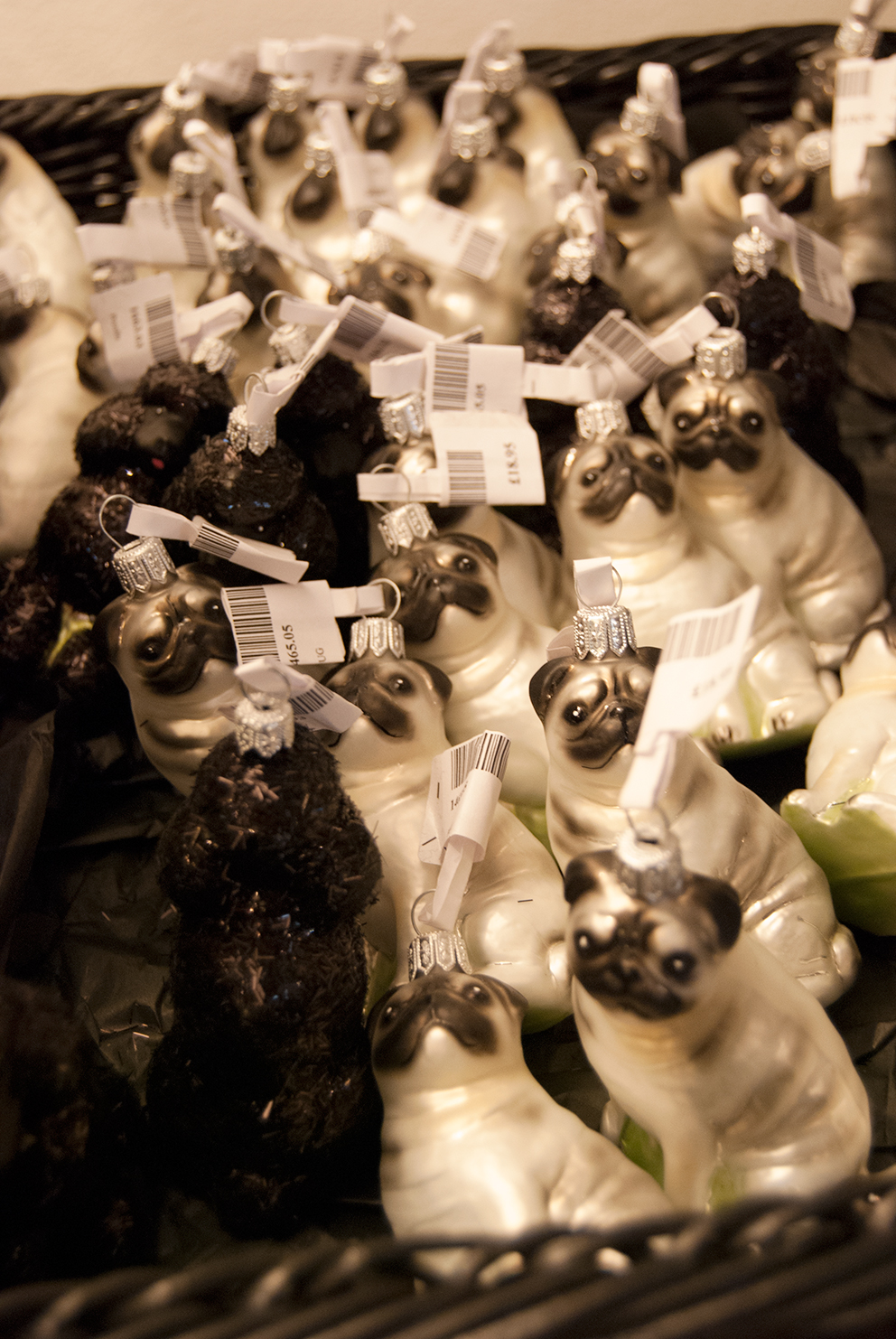 Pug and Poodle Christmas Tree Decorations