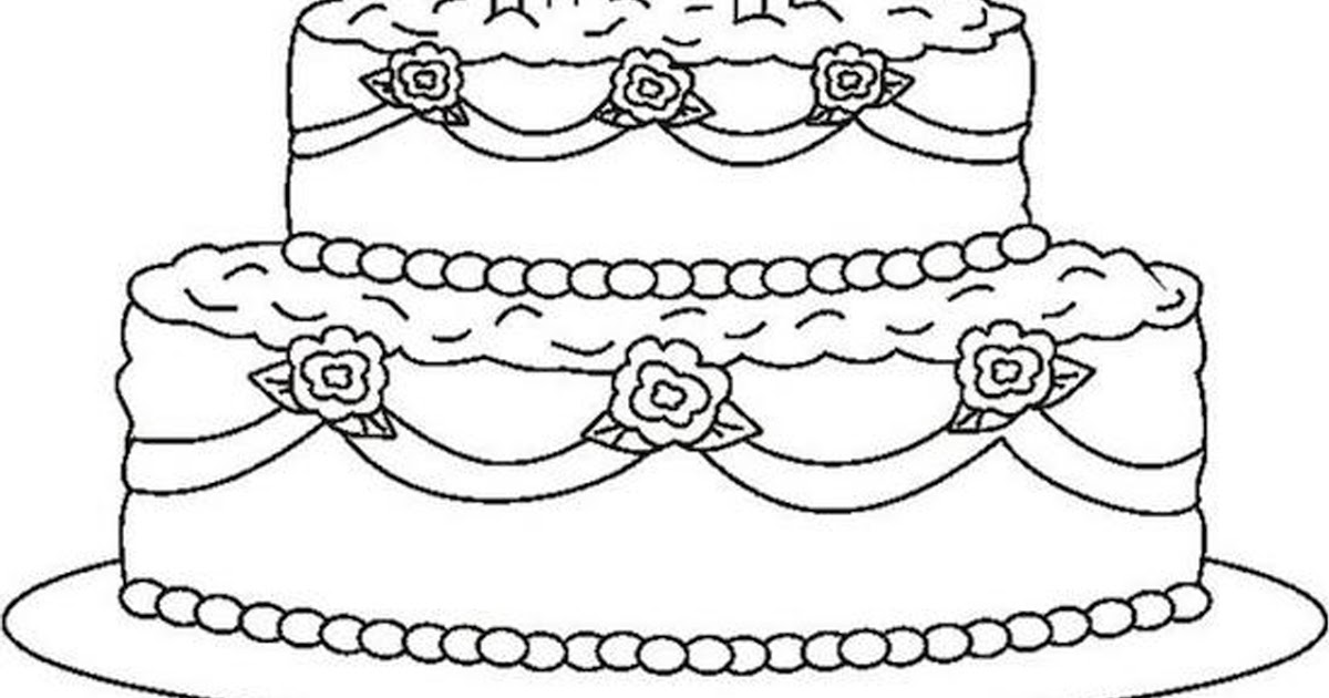 wedding cake coloring pages Wedding Cake Coloring Page | Coloring Pages wedding cake coloring pages