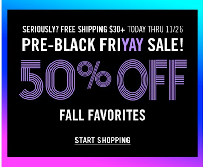 Forever 21 Pre-Black FriYay Sale 50% Off + Free Shipping $30+