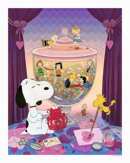 """Snoopy Valentine"" Variant Giclee Print by Nicole Gustafsson"