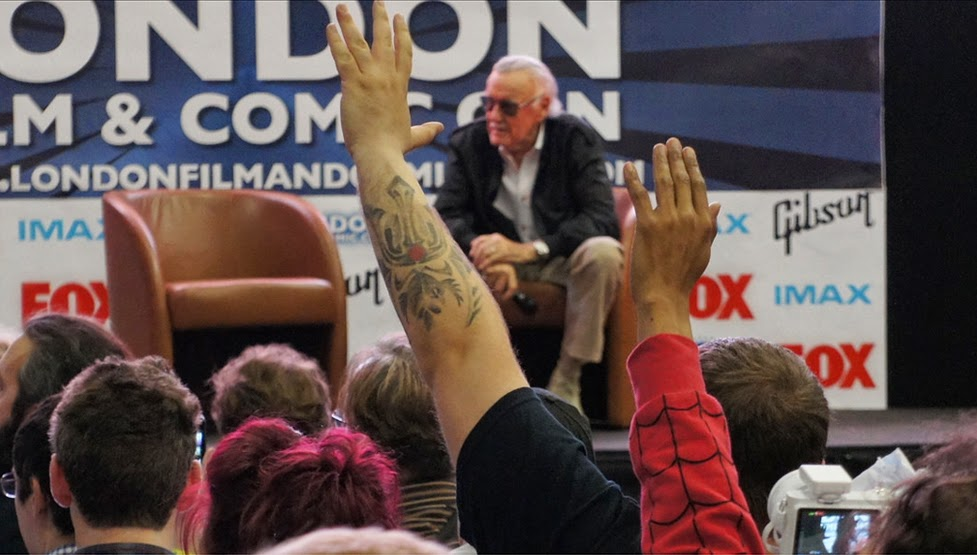 Stan Lee talk at the London Film and Comic Convention 2014