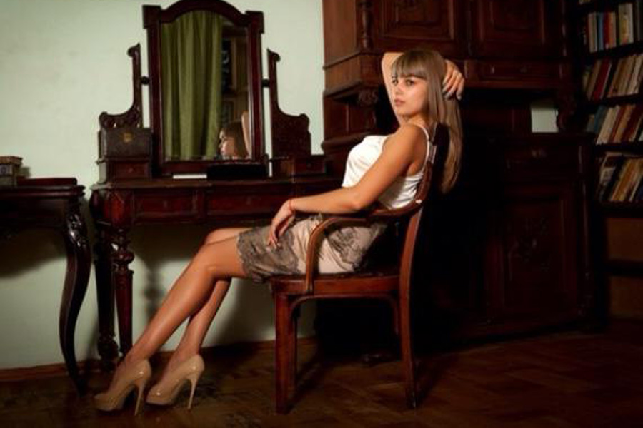 Анна Пенчева. Спикер одесской милиции. Фото