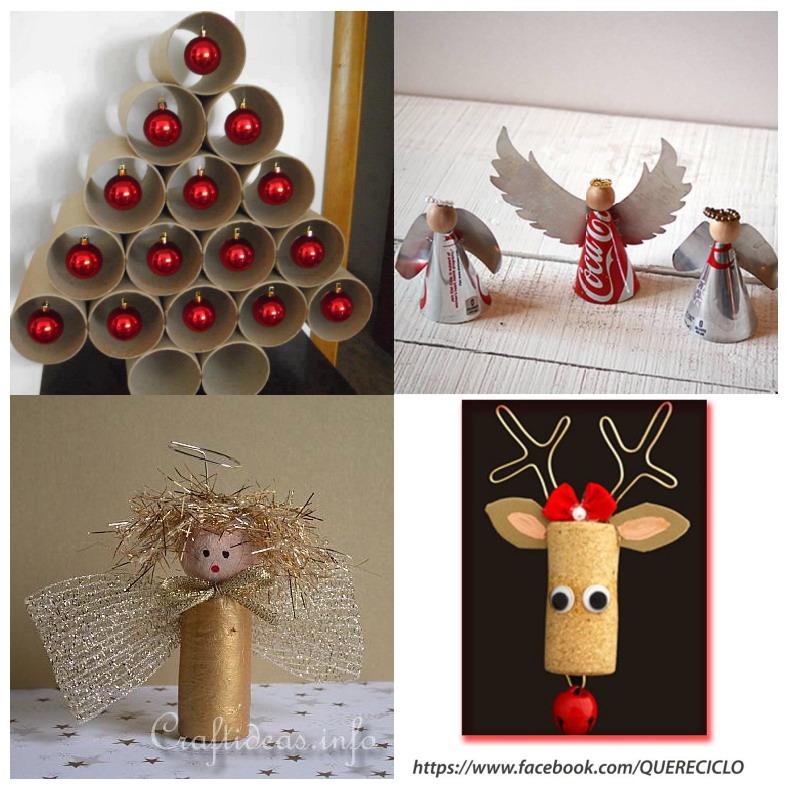 El mundo del reciclaje detalles de navidad reciclados - Detalles para decorar ...
