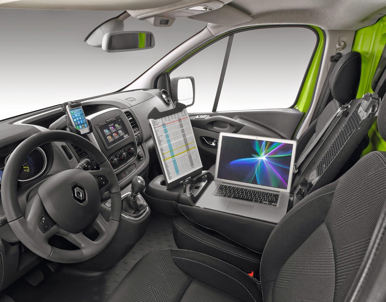 Voiture du futur: nouveau renault trafic : le bureau mobile