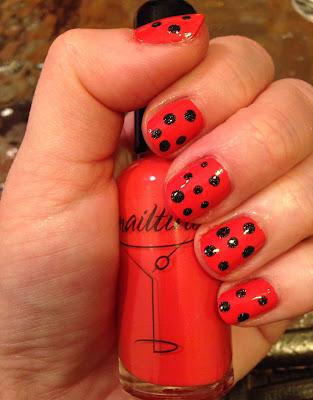 Halloween, nail art, Happy Halloween, manicure, nail polish, nail lacquer, nail varnish, Nailtini, Nailtini Mai Tai, Zoya, Zoya Storm, ipsy